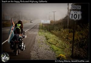 Going South on the USA Westcoast, foggy Oregon